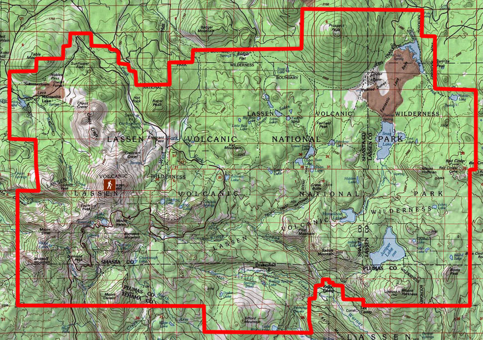 Trail Map Of Lassen Volcanic National Park The Backcountry