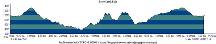 Berry Creek Falls Profile